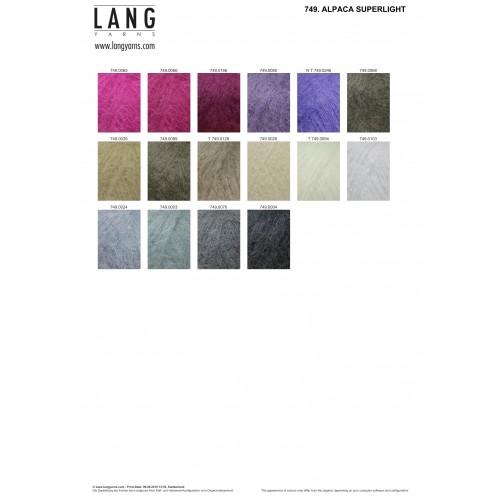 ALPACA SUPERLIGHT von LANG YARNS 199 m Wolle - 25 g // ca HELLGRAU 0103