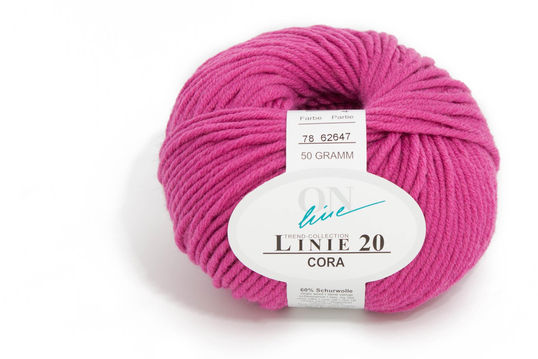 ca LINIE 20 CORA von ONline 85 m Wolle Farbe 0073-50 g
