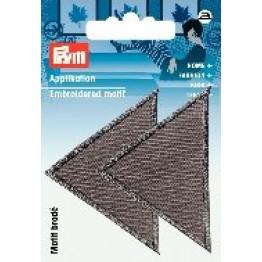 prym_Prym_Applikation_Dreiecke_groß_grau_grau