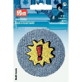 prym_Applikation_Patch_blau_mit_Stern_stern