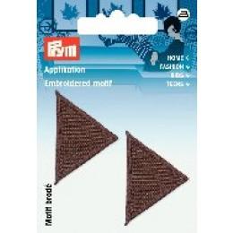 Prym Applikation Dreiecke braun
