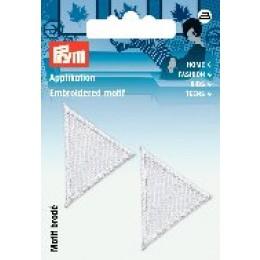 Prym Applikation Dreiecke weiß