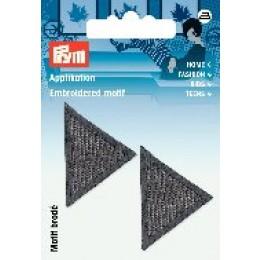 Prym Applikation Dreiecke grau
