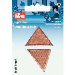 Prym Applikation Dreiecke dunkelbeige