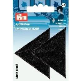 Prym Applikation Dreiecke groß schwarz