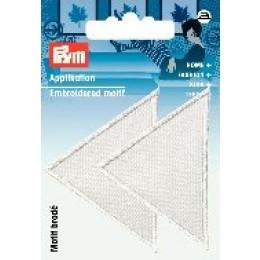 Prym Applikation Dreiecke groß weiß