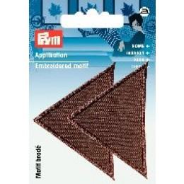 Prym Applikation Dreiecke groß braun