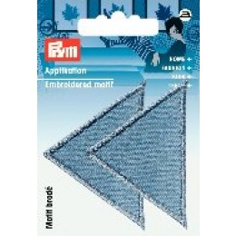 Prym Applikation Dreiecke groß jeans hell