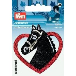 Applikation Pferdekopf mit Herz